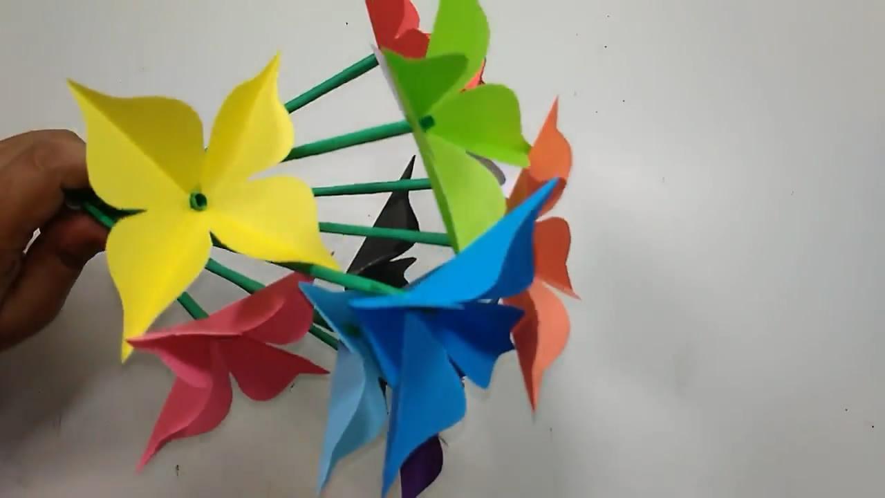 「紙花DIY」學習如何製作漂亮的4瓣花,看一遍就能學會