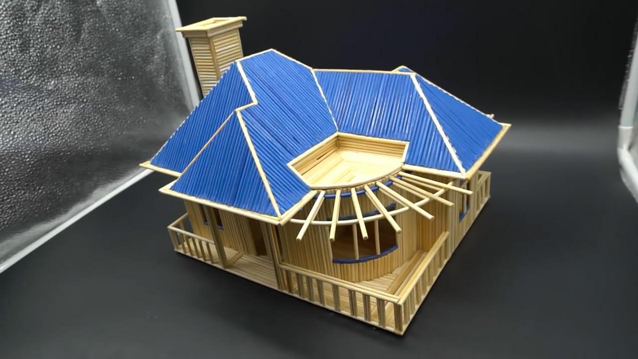 手把手,教你如何用普通的木竹製作漂亮的房屋模型,非常有創意-生活視頻-搜狐視頻