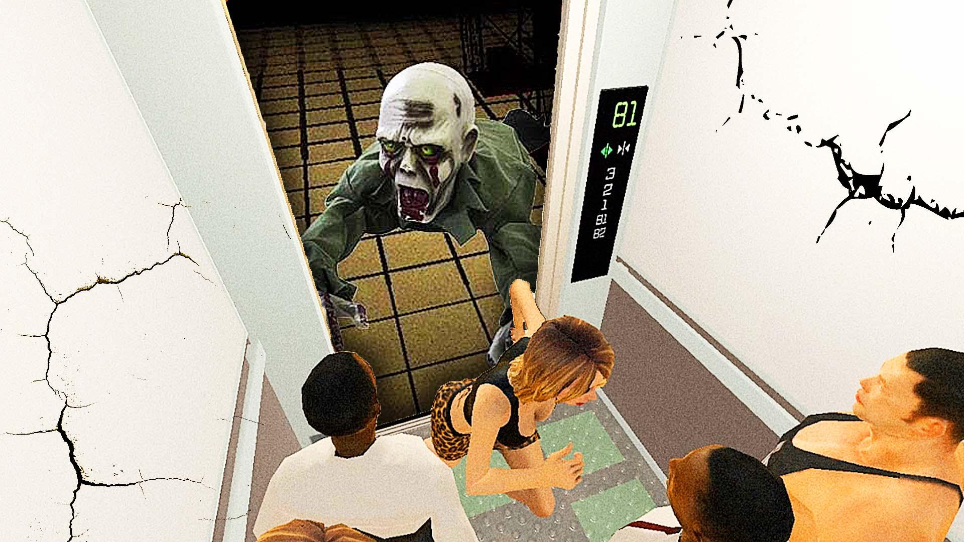 扶梯僵尸游戏_僵尸电梯模拟电梯理员,帮助大楼里的幸存者逃跑屌德斯解说