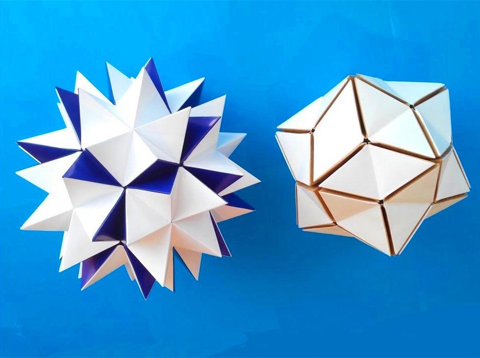 摺紙花球教程:摺紙會變形的花球,很有意思的摺紙花球摺紙視頻教程-生活視頻-搜狐視頻