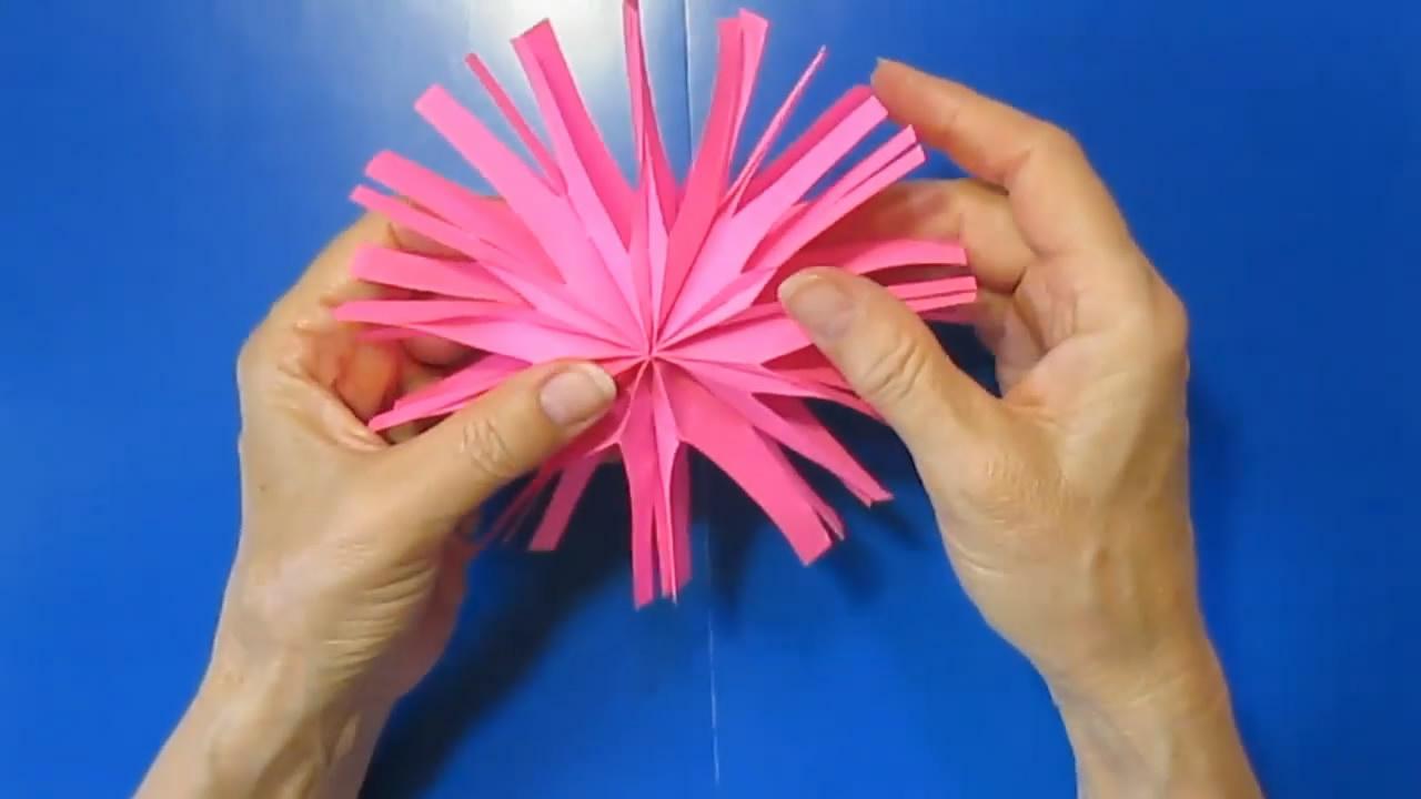 如何用紙剪雪花,方法非常簡單,看一遍就學會了