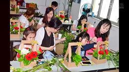 公司插花培训插花亲子活动天元莎莎百胜餐饮插花