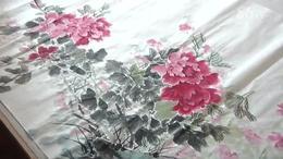 当代著名画家郭青先生画牡丹
