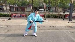 5、张老师表演36式养生太极杖