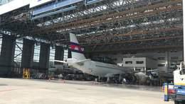 广州新白云机场的维修机库