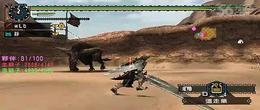 怪物猎人P2G(太刀打两个金狮子失败)