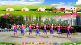 爱在草原  重庆叶子广场舞( 正面演示)