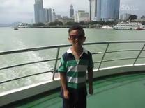 2015暑假颜安和妈妈在厦门鼓浪屿游船上拍摄外景(1)