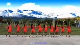 威远幸福广场舞《雪域爱人》团队版219 编舞:王梅_01