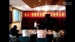 阿雅贝贝第一次参加钢琴大赛(5岁)