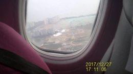 坐飞机返回