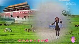 冰雪儿制作站在草原望北京