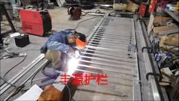 东莞华为研发基地铝艺护栏生产中