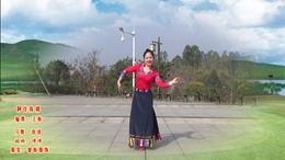 威远幸福广场舞《阿佳珠姆》个人版 编舞:王梅 213