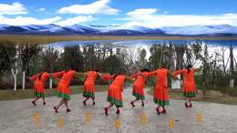 威远幸福广场舞《天上有个纳木措》215 团队版 编舞:王梅2