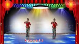 安源红子玉广场舞《福门开 好运来》