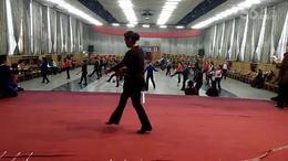 晋中老体协培训班学员学练健身球操双球技术动作组合
