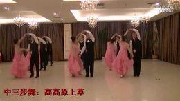 华尔兹(中三)集体舞表演《 高高原上草》