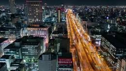 大阪の夜景 光輝大都会