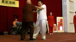 恩师郝明之先生九十寿辰推手表演