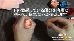 93.3.2 1分ローズの折り方・和紙で折ってみました・origami rose...