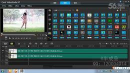 会声会影X7教程 18.给视频局部打静态马赛克 隐藏视频人头像、LOG...