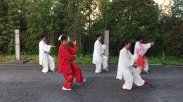 在日本箱根甲斐路晨练40式太极拳