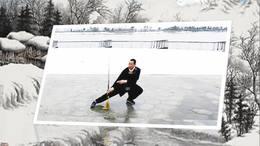 在海宁鹃湖雪中打六十三式传统武当劍