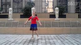 湖北黄梅艳艳广场舞  醉美的地方正背面和动作分解