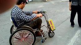 轮椅车头2袋大米过减速带