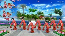 陇南市焦金凤原创舞蹈;对花,正面演示并制作