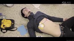 帅哥急救CPR除颤AED