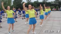 宜兴绿茶广场舞《把心给你》大集体演绎