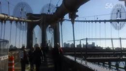 百年钢铁大桥供游人赏