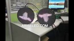 Circular shape LED screen Irregular size LED sign