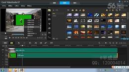 会声会影X7教程 24.扣视频的背景色并替换成新背景...
