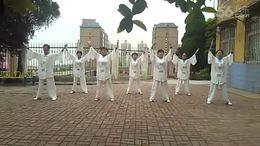 舞钢垭口桃园站点习练健身气功大舞