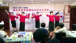 老年收藏协会成立三周年庆典 舞蹈:再唱北风吹