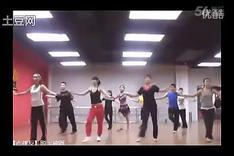 健身房有氧拉丁舞恰恰健美操教学视频_标清