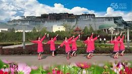 甘肃龙泉开心广场舞《藏家吉祥》团体演示 编舞:沚水