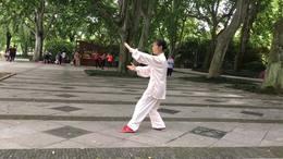 孙式七十三式太极拳竞赛套路。演练陈庆琳