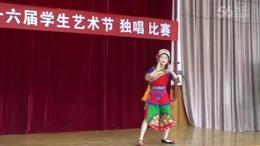 阿雅贝贝比赛中演唱《我是山里小歌手》