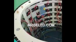 Arc Circular Round circular pillar led display P4