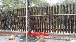 实木围墙护栏