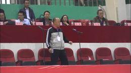 达州市第十三届老运会教练员代表杨化刚宣誓
