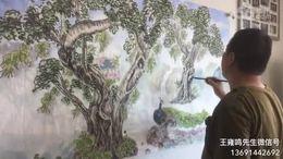 国画欣赏 王雍鸣先生画孔雀,美呆了
