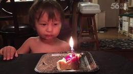 【发现最热视频】真捉急呀!过生日蜡烛怎么就吹不灭...