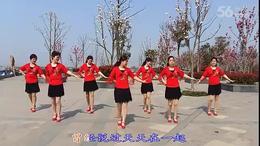 琪子广场舞   一直很爱你 团队版 (93)
