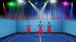 舞动姐妹广场舞火红的萨日朗