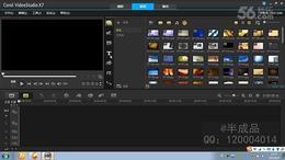 会声会影X7教程 16.给视频文字设置背景以及文字特效...